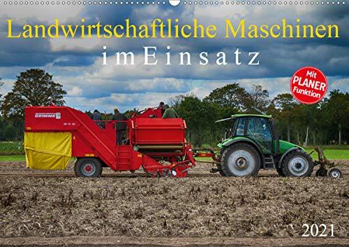 Landwirtschaftliche Maschinen im Einsatz (Wandkalender 2021 DIN A2 quer)