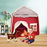 Arcane Party Portable Folding Play Tent with Carrying Bag and Manual, Kids Playhouse for Indoor and Outdoor use, Oxford Fabric, Large Foldable Teepee Tent for Kids
