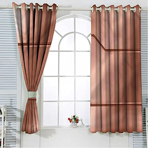 Industrial Noise Cancelling Curtains 108 Inch Length Realistic Look Plate Thermal Insulated Room Darkening Bedroom Curtains W72 x H108