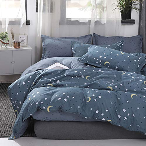 Fansu Duvet Cover Set Bedding Sets for Double King Single Size Bed 4 Piece Star Duvet Set 2 x Pillowcases 1 x Quilt Case 1 x Flat Sheet (King-220x230cm,Starry)