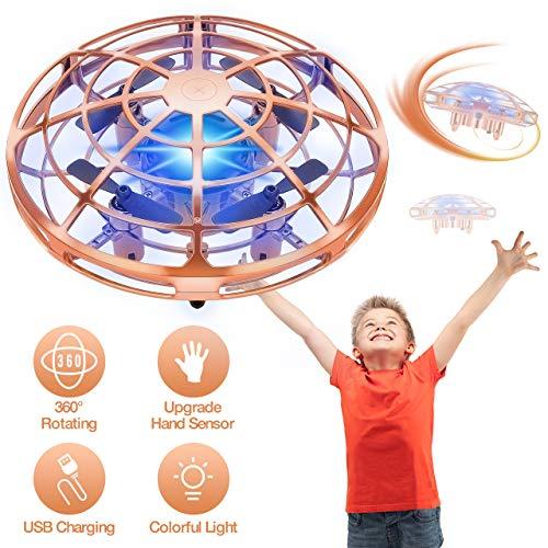 ATOPDREAM Spiele ab 5-12 Jahren, Drohne Kinder Geschenk Junge 5-12 Jahre Gartenspielzeug für Kinder Geschenk für Mädchen 6 7 8 9 10 Jahre Kinderspielzeug Geschenke für Teenager Mini Drohne Golden