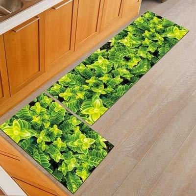 OPLJ Alfombrilla geométrica para el Suelo de la Cocina, Silla de Oficina Antideslizante, Alfombrillas de Bienvenida para el Suelo, alfombras para Cocina, baño, Felpudo A15 50x160cm