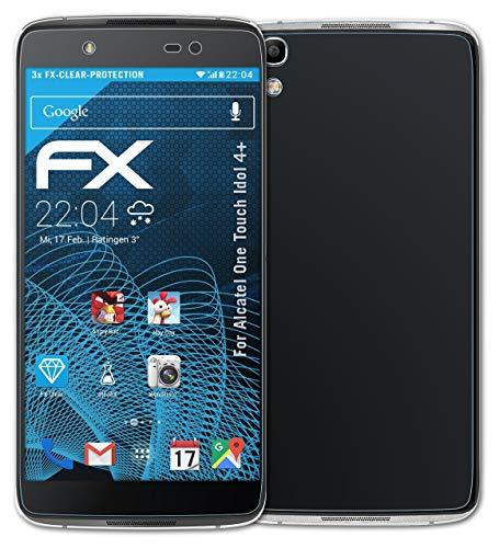 atFolix Schutzfolie kompatibel mit Alcatel One Touch Idol 4+ Folie, ultraklare FX Bildschirmschutzfolie (3er Set)