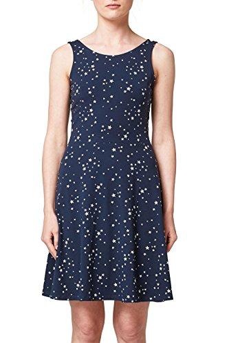 edc by ESPRIT Damen 068CC1E014 Kleid, Blau (Navy 400), Large