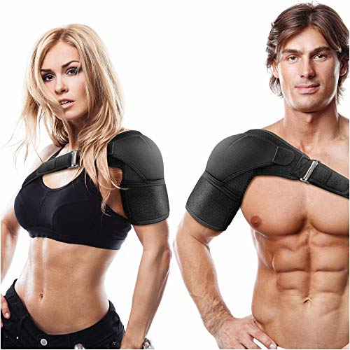 Shoulder Brace for Torn Rotator Cuff Left and Right for Men and Women | AC Joint Pain Relief Tendonitis Bursitis Orthosis Support Compression Sleeve Ice Pack Pocket Stability Strap Dislocated Sholder