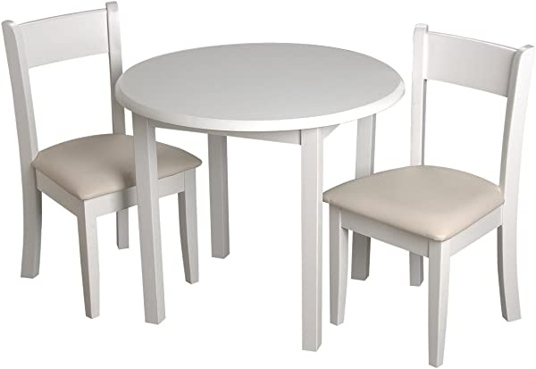 Gift Mark Children S Round Table With 2 Matching Upholstered Chairs