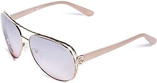 GUESS Factory Women`s Logo Aviator Sunglasses