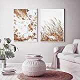 VVSUN Reed Grass Nature Scenery Posters e Impresiones Paisaje Marino Estilo escandinavo Pintura nórdica Cuadros en Lienzo Decoración para Sala de Estar, 50x70cmx2Pcs (sin Marco)