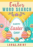 Easter word search: Challenging Puzzle book For kids and adult | 60 puzzles with word searches and scrambles | Find more than 400 words`| Large Print, Big Character | Funny Gift for Friends, Family.