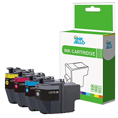 InkJello - Cartucho de Tinta Compatible para Brother MFC-J5330DW MFC-J5335DW MFC-J5730DW MFC-J5930DW MFC-J6530DW MFC-J6930DW MFC-J6935DW MFC-J6935DWF LC3219XL (BK, C,M,Y, 4 Unidades)