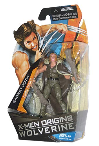 X-Men Origins Wolverine Comic Series 4 Inch Tall Action Figure - SABRETOOTH with 2 Clubs and Removable Cape