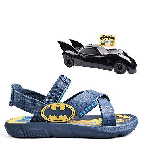 Sandália Infantil Grendene Batman Batmovel Azul 35