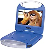 """Sylvania 10"""" Portable DVD Player with Integrated Handle and USB/SD Card Reader, Blue"""