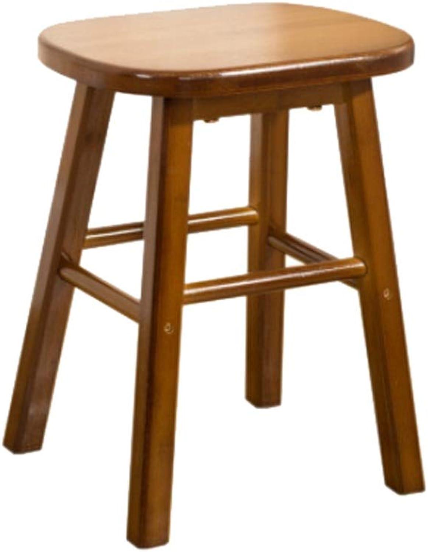 JUN Fashion Creative Small Bench Solid Wood Stool Stool Living Room Sofa Coffee Table Stool Laundry Stool Footstool 33x23x24cm
