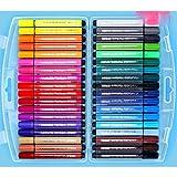Vbtsqp Conjunto de Pluma de Color de la Acuarela para niños, Pintado a Mano 24 Colores 36 Colores 48 Colores, Perritos de Agua, Pluma de Pintura artística Profesional