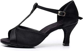 HROYL Dans Schoenen Strass Dans schoenen Dames Latin Ballroom Dans Competitie Partij Salsa Latijnse Sandalen,KIU-259-FBA-NL