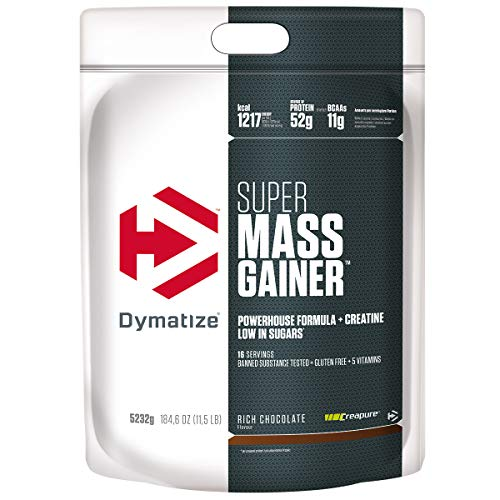 Dymatize Super Mass Gainer Rich Chocolate 5,2kg - Weight-Gainer Pulver + Kohlenhydrate, BCAAs und Casein