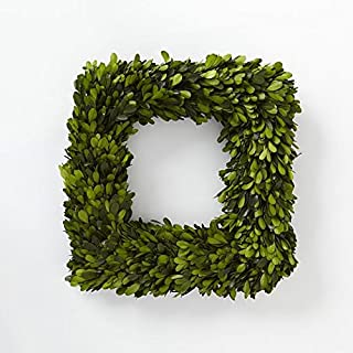 Tradingsmith Preserved Boxwood Square Wreath 16 in