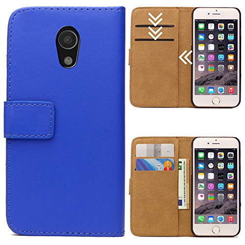 Moto G (G2, 2.Generation) Flipcase Tasche, Flip Hülle Handytasche, Bookcase Wallet Etui mit Magnet für Motorola Moto G (G2, 2.Generation), Royal Blau