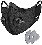 Dust_Mask, Reusable Face_Mask with Filters for Pollen Allergy Woodworking Running Cycling Mowing Construction