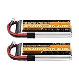 Youme 11.1V Lipo Battery 4500mAh,3S RC Lipo...