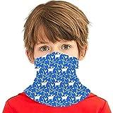 hdyefe Pañuelo reutilizable para niñas y niños de cabras y gallinas, diseño de animales de granja en color azul