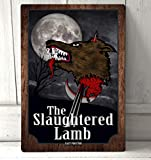 nobrand Bar Sign 8x12 inch Retro Home Kitchen Bar Pub Wall Decor - The Slaughtered Lamb Wood Effect Metal