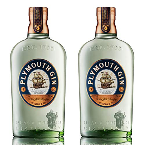 Plymouth Dry Gin 2er Set, englischer Gin, Schnaps, Alkohol, Flasche, 41.2{4cddb2e0b5c5012a8e5b4a955c8c915cf6705d415b1f98ceb387a1936427443a}, 2 x 700 ml, 70366400