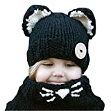 Kfnire Gorros de Punto cálidos bebé Gorros de Animales Lindos Fox Sombrero y...