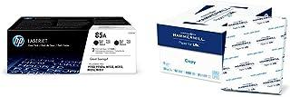 $165 » HP 85A | CE285D | 2 Toner Cartridges | Black & Hammermill Paper, Copy Paper, 8.5 x 11 Paper, Letter Size, 20lb Paper, 92 Bright, 8 Ream Case / 4,000 Sheets (113640C) Acid Free Paper