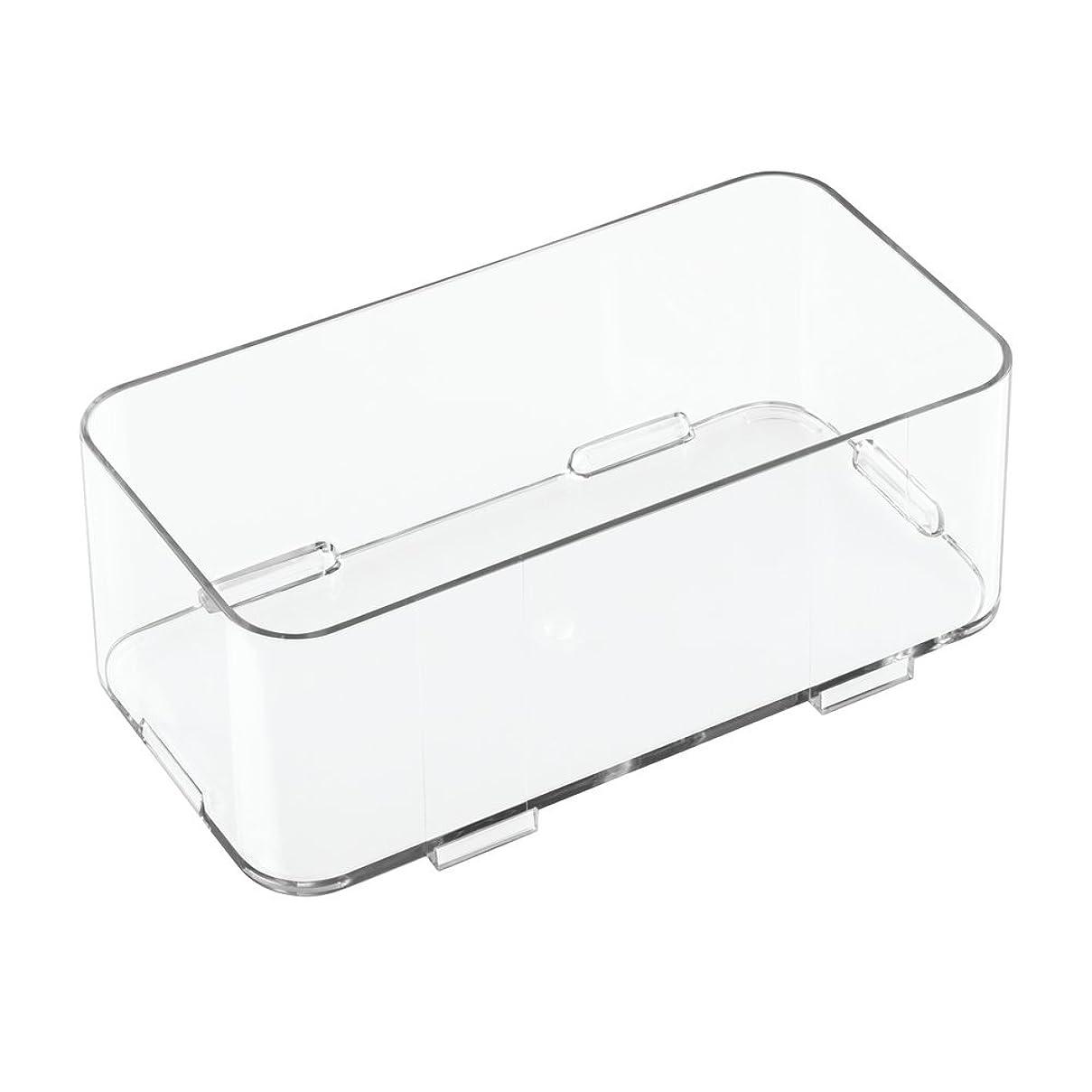 韓国歌うマットInterDesign 洗面所 化粧品 小物 収納 ボックス 組み合わせ式 Clarity 10 x 20 x 7.5 41410EJ