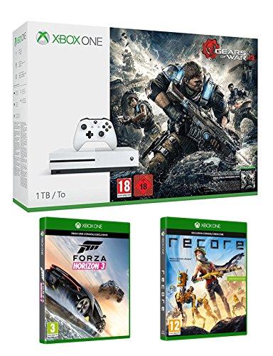 Xbox One S 1 TB + Gears of War 4 + Recore + Forza Horizon 3