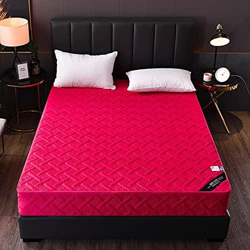 HAIBA Cama totalmente cremallera Encasement Anti Allergy Protector de colchón impermeable en (180x200cm+15cm, rojo)