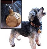 THOUSAND OAKS BARREL | St. Bernard Style Mini Oak Barrel Charm + Leather Collar for Small to Medium Size Pet Dogs 2.25 Inches (Blank Non-Personalized)