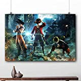 oioiu Kreative Ruffy Dragon Ball Naruto Wandkunst Leinwand