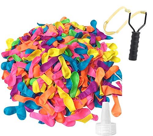 TK Gruppe Timo Klingler Wasserbomben Set mit 1000x Wasser Ballons & 1x Schleuder für Kinder & Erwachsene - Wasser Luftballons in bunten Farben (1000x)