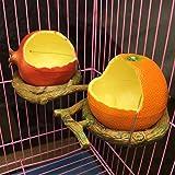 ZFFLYH 2 Pezzi Mangiatoie per Uccelli, Figura della Frutta Uccello Arancione Melograno Acqua Cibi Tazza di Alimentazione Container Alimentatori per Gabbie Casse Coop Pet Parrot Feeder