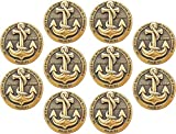 """ANCHORED IN CHRIST CHALLENGE COIN BULK PACK OF 10: 1.75"""" diameter, Antique Gold Plated Challenge Coin. These high quality, antique gold plated challenge coins are an excellent token to carry in your pocket as a reminder that our strength comes from G..."""