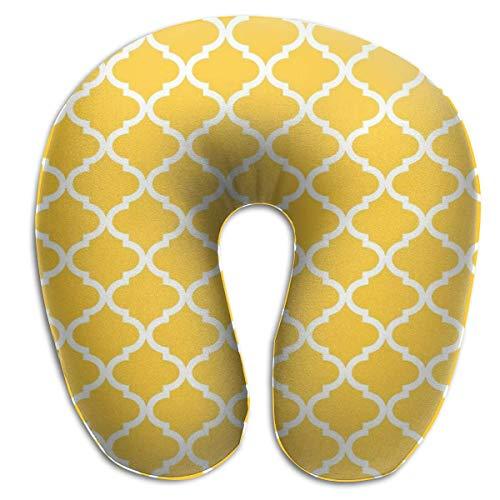XCNGG Pétalos Amarillos Almohada para el Cuello en Forma de U Almohadas de Viaje Impresas Almohada para el Cuello del avión, Cubierta extraíble con Cremallera Hipoalergénica