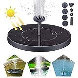 Solar Fuente Bomba, Fuente Solar para Jardin 1.5W Solar Panel Flotador Fuente,Kit de Bomba Sumergible para el Aire Libre Baño de Aves, Estanque, Piscina, Patio, decoración de jardí