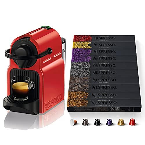 NESPRESSO MACCHINA INISSIA E 100 CAPSULE - Inissia Macchina da Caffè con 100 Capsule Nespresso Caffè - Selezione Ispirazione Italiana, Originali, Riciclabili