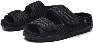 B/H Edema Swollen des Sandales Respirant,Pieds Larges Chaussures Bouffantes Gros os, Chaussures de Fond réglables en Mouss...