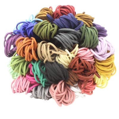 15 piezas Cuerda de Cuero, Cuerdas Cuero Cordón de Ante