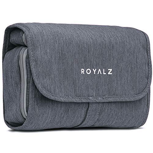 Royalz Toilettas om op te hangen wastas voor op reis, toilettas voor dames en heren waterafstotend, Kulturbeutel:Midnight Grau