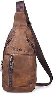 ERWEIRUILAN New Chest Bag Men's Casual Men's Shoulder Messenger Bag Waist Bag Soft Bag Backpack Korean Version of The Tide Men Bag (Color : Yellow)