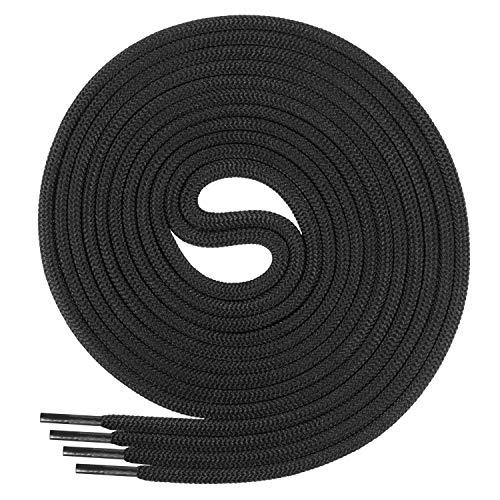 Di Ficchiano Schnürsenkel, Rundsenkel für Business- und Lederschuhe, reißfester Allroundsenkel, ø 3mm Farbe schwarz Länge 130cm