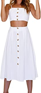 cream 2 piece skirt and top