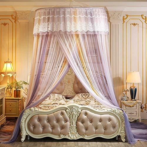Moustiquaire Premium Colorblock - Dôme Grand Lit À Baldaquin - Rideau De Lit De Style Princesse Dentelle Double Lit Castle Castle Tent (Color : C)