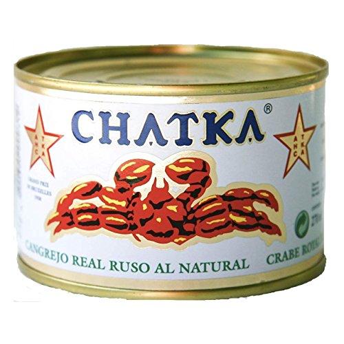 Chatka - Cangrejo real ruso - 60{835ff2765e7559e5d2846c621cbe9bceaf50c844bd52be813e90c2ef2775d833} patas enteras - 185 g (121g)