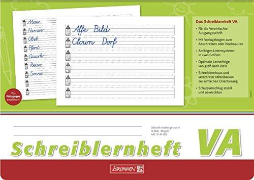 Brunnen Schreiblernheft A4 quer, 16 Blatt (30er Klassensatz, Lineatur VA)